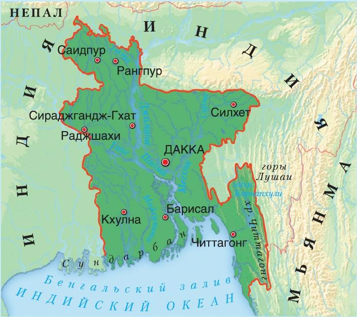 Где находится страна бангладеш