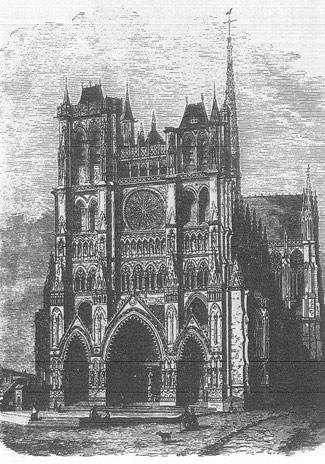 гравюра Амьенского собора