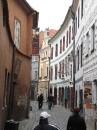 Узкие улочки Чешского Крумлова