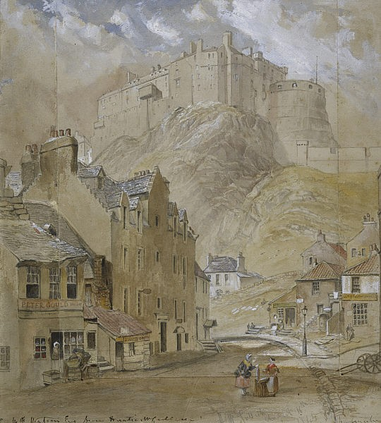 Edinburgh Castle from the Foot of the Vennel